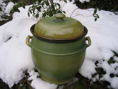Brottopf ca. 8 Liter | grüne Glasur