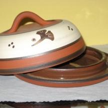 Butterdose rund Terracotta