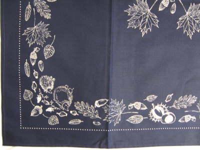 Decke 80*80 Blaudruck Herbst