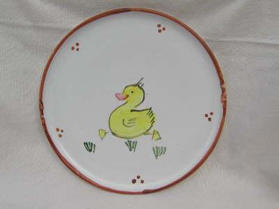 Kinderteller braun mit Ente