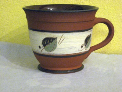 Tasse bauchig Terrakotta
